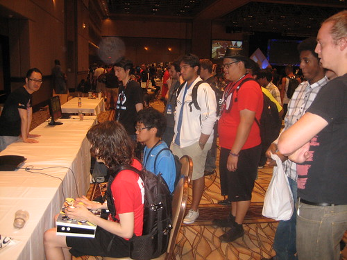 Skullgirls booth at Evo
