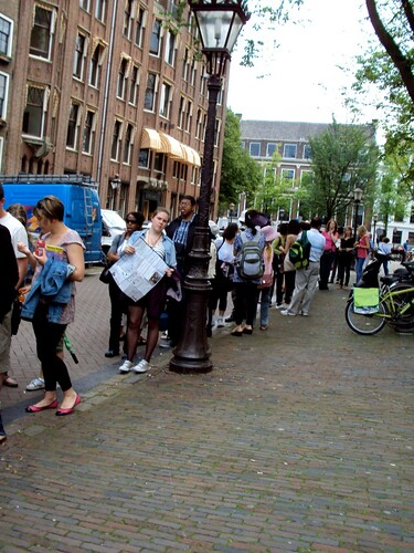 Super long Queue outside Anne Frank's House
