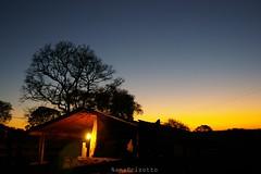 Se preparando para a noite (NanaBrizotto) Tags: luz rural interior natureza paz cu tranquilidade anoitecer rvores casinha