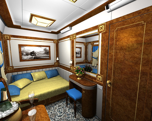 The Golden Eagle Imperial Suite from the Luxury Train Club