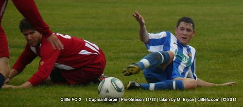 Cliffe FC 2 - 1 Copmanthorpe (pre-season) 2Aug11