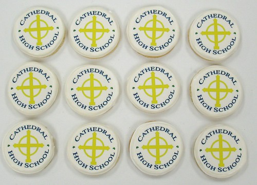 [Image from Flickr]:Cathedral High School Logo cookies