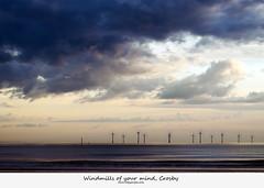 Windmills of your mind, Crosby.  HSS (Ianmoran1970) Tags: sea sky cloud green beach weather canon tide sunday wave windmills future electricity l 28 70200 generation windfarm crosby turbines sliders windturbines hss ianmoran ianmoran1970