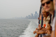 Goodbye Manhattan, Hello Staten Island! (Rares M. Dutu) Tags: new york city sea love water beautiful look ferry boats island photography 50mm back nikon cityscape manhattan gorgeous salt cities salty photograph nikkor staten f18d d7000