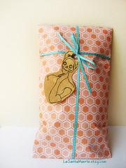 packaging (La Santa Muerte) Tags: blue orange cute dayofthedead dead skull day sugar bow packaging diadelosmuertos ribbon earrings etsy calavera sugarskull