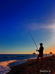 Un contraluz para el pescador