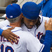 Jose Reyes embraces Terry Collins