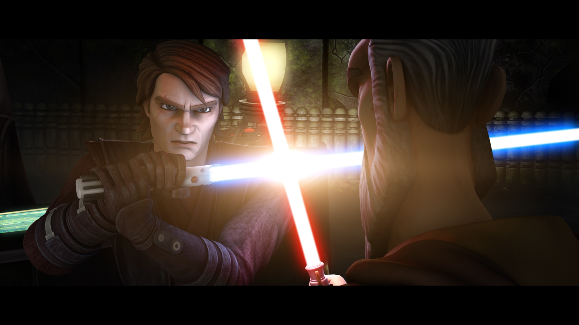Anakin Faces Off with Count Dooku