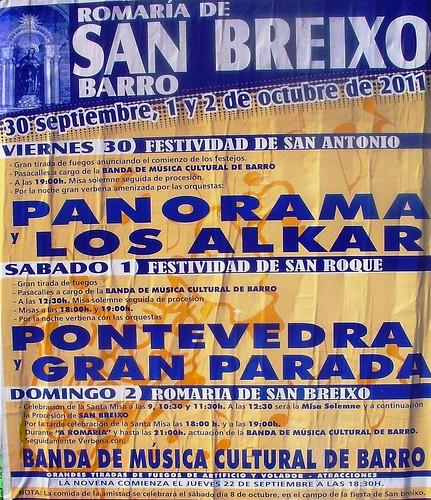 Barro 2011 - Romaría de San Breixo - cartel