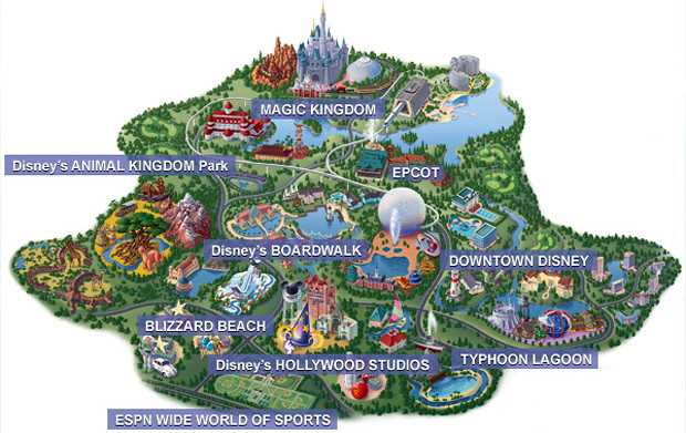 Mapa Walt Disney World Resort