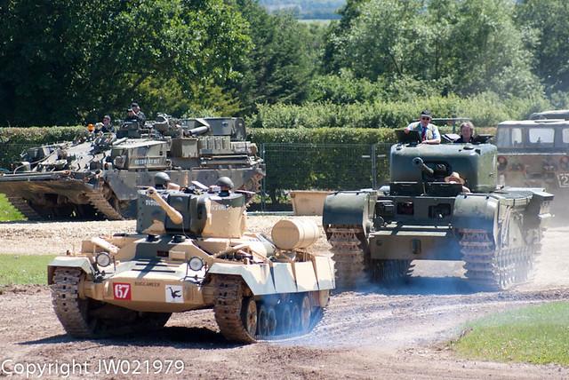Valentine and Churchill Tanks