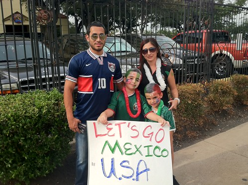 Mexico & USA Fans at Gold Cup 2011 Final