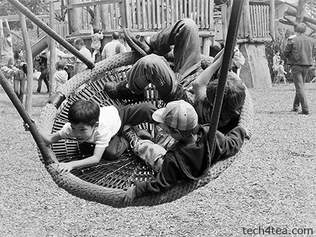Apart from animals, the Frankfurt Zoo had a fun playground for kids.