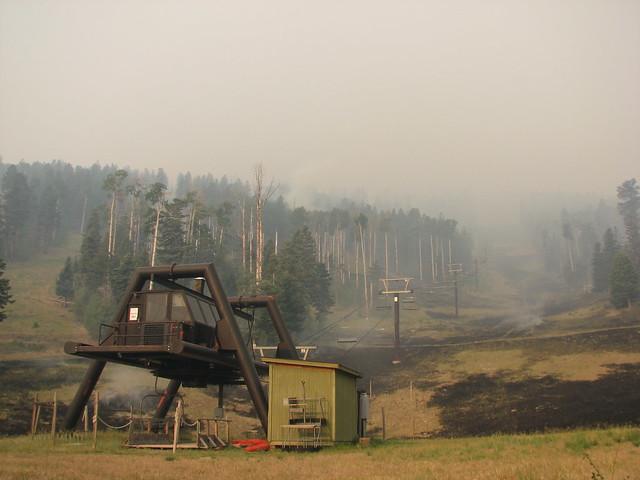 Fire scars Pajarito Ski Hill