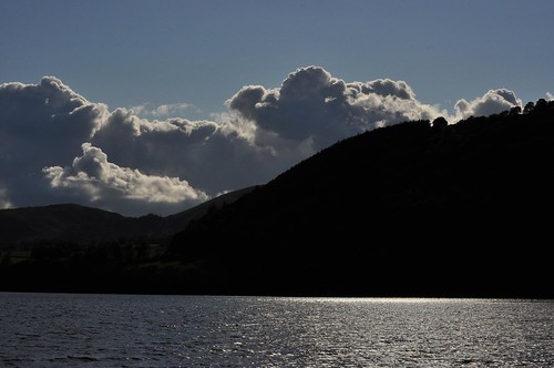 Ullswater shimmer under bright sky