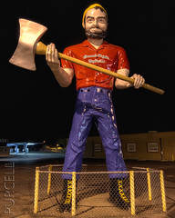 Tucson's Paul Bunyan found his axe! [Explored] (Jim Purcell) Tags: longexposure summer arizona sculpture usa art night digital photoshop pentax zoom tucson streetlights antique tripod az multipleexposure photograph makeover summertime dslr paulbunyan hdr highdynamicrange topaz lightroom coronadoheights photomatix photomechanic tonemapping explored pimacounty tucsonphotographer pentaxk5 smcpentaxda1017mm3545fisheyeedif