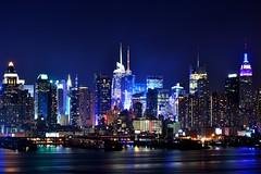 Midtown Manhattan (Yohsuke_NIKON_Japan) Tags: nyc blue usa ny newyork nikon manhattan nj midtown hudsonriver nightview dslr oldglorypark nikond3100