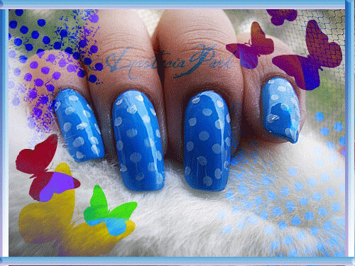 Stamping nail art...