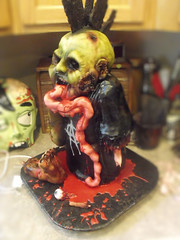 punk rock zombie 3 (Cake Rhapsody) Tags: monster cake rock foot death scary blood punk zombie chocolate finger eyeball rocker gore horror mohawk anarchy undead corpse zombies airbrush intestines fondant buttercream edibleart walkingdead royalicing barbaranngarrard cakerhapsody