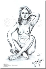 130/260 studie figure (creating more portraits...) Tags: sepia pencil drawing study figure studie tekening figuur potlood