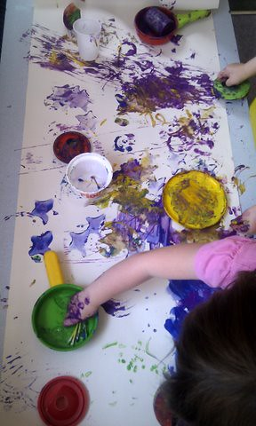 messy play printing ideas