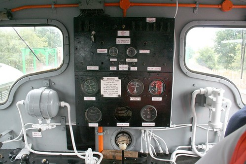 Riding in the Class 03 locomotive