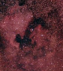 Reprocess of North America and Pelican Nebulae (BudgetAstro) Tags: nikond70 nebula astrophotography astronomy dss cygnus northamericanebula 55200mmf456g ngc7000 ic5070 pelicannebula deepskystacker Astrometrydotnet:status=solved ic5068 Astrometrydotnet:version=14400 Astrometrydotnet:id=alpha20110747045691
