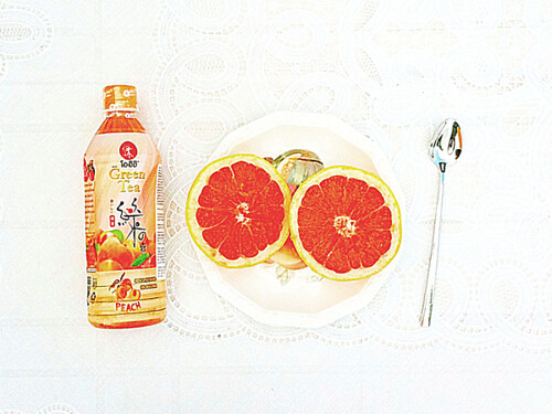 Breakfast: Grapefruit & Green Tea