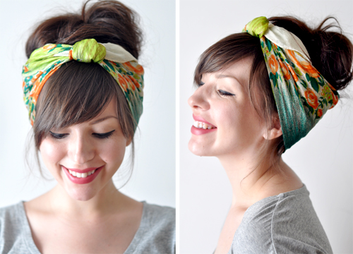 bangstyle.com  fashion  Head Scarf Tutorial