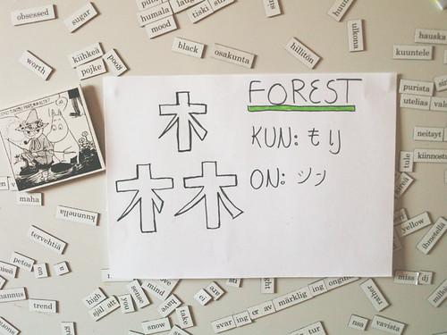 This weeks kanji is Mori