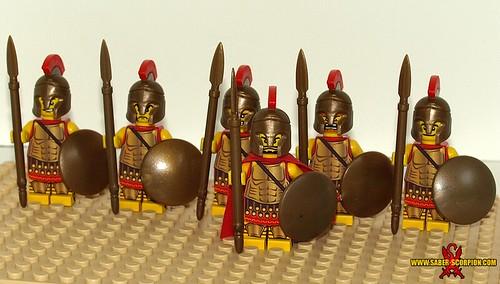 Custom minifig Greek Spartan Hoplites