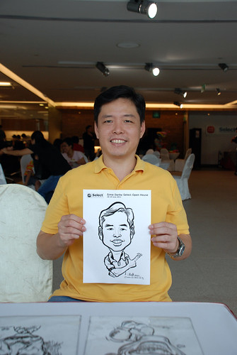 Caricature live sketching for Sime Darby Select Open House Day 1 - 17