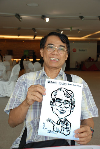 Caricature live sketching for Sime Darby Select Open House Day 2 - 5