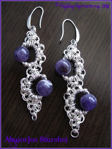 Pendientes Chainmaille&Amatista