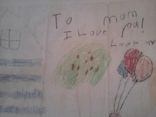 To mom, I love you! Look on Back