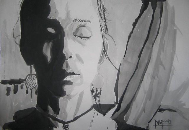 Algunos de mis dibujos [Mujeres en varios medios de dibujo]