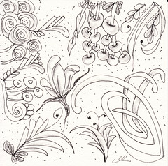 06-08-2011 (Blind Squirrel Photo Safari) Tags: art tile drawing hobby doodle tangle zentangle