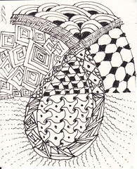 06-19-2011 (Blind Squirrel Photo Safari) Tags: art tile drawing hobby doodle tangle zentangle