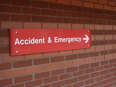 Accident & Emergency Sign (lydia_shiningbrightly) Tags: sign hospital health nhs warwick warwickshire publicservices accidentandemergency