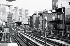 The Brooklyn Tracks (Alex E. Proimos) Tags: new york city nyc usa white black station brooklyn america train tracks line proimos