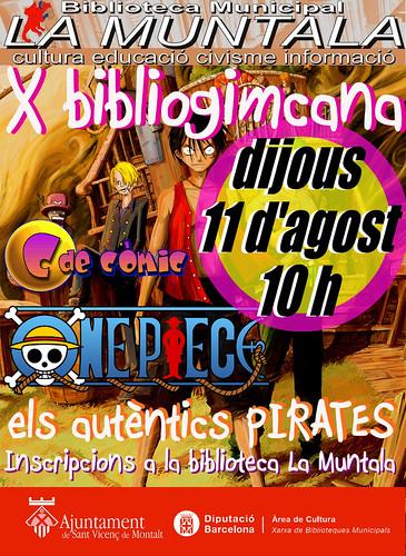 X bibliogimcana: One piece els autèntics pirates 11 agost 10 h by bibliotecalamuntala