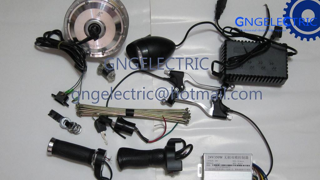 24v350w electric e bike brushless hub motor conversion kit for Electric bike hub motor planetary gear