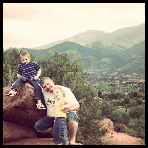 My beautiful family in a beautiful spot. #gardenofthegods #sbsummit