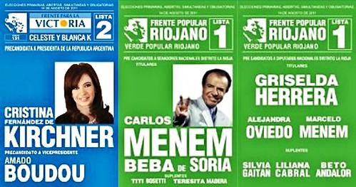 Fuentes oficiales confirman boleta de CFK+Menem