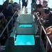 O barco de fundo de vidro