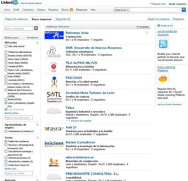 Empresas de León en Linkedin