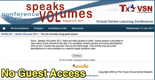 speaks VOLumes 2011: No Guest Access