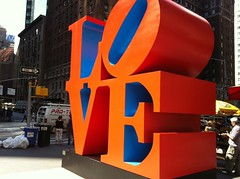 LOVE is here. (Jeffrey) Tags: nyc newyorkcity sculpture newyork love manhattan midtown 6thavenue avenueoftheamericas sixthavenue garyindiana 55thstreet