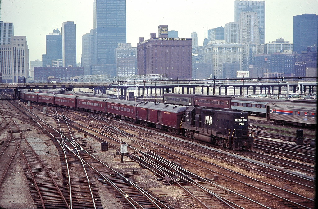N.W commuter train Chicago Union Station