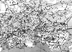 Where the bombs fell - Plymouth centre (jamiegaquinn) Tags: old history war map plymouth ww2 bomb bombs worldwar2